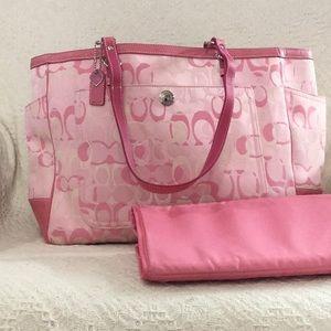 Coach Petal Pink Diaper Bag